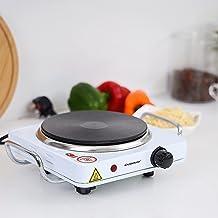 Single electric stove olsenmark 1500w OMHP2288, SILVER