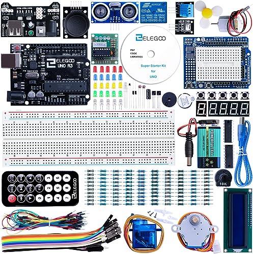 ELEGOO Conjunto Medio de Iniciación Compatible con Arduino IDE con Tutorial en Español y Conjunto de Relé de 5V, Modu...