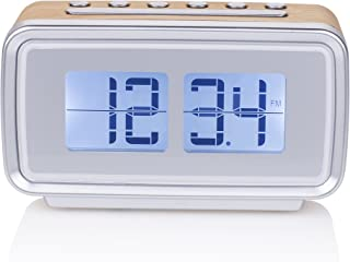 Smartwares CL-1474 – Reloj despertador, retro, radio FM, pantalla regulable