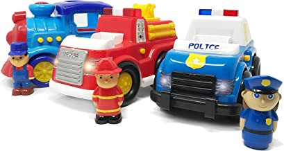 two fire trucks