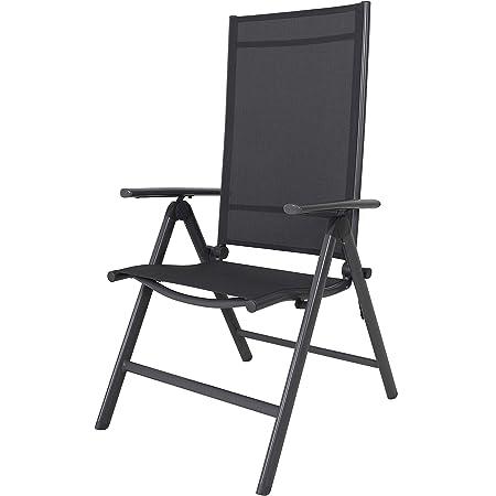 Chicreat 8-Way Adjustable Folding Chair, Grey, Aluminium