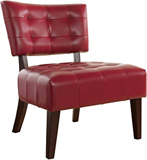 Accent Red Living Room Chairs Furniture Home Kitchen