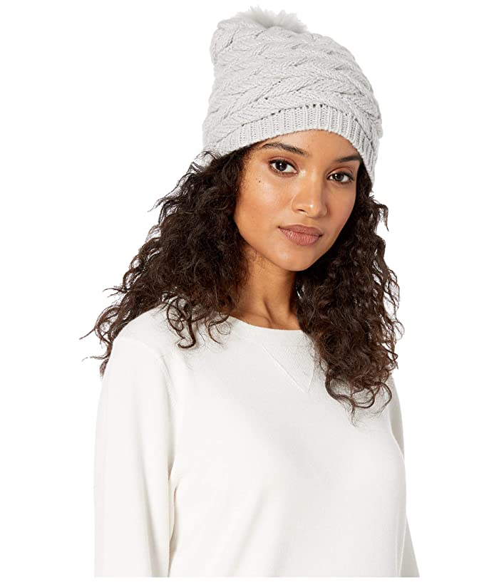 UGG  Cable Hat with Pom (Light Grey) Beanies