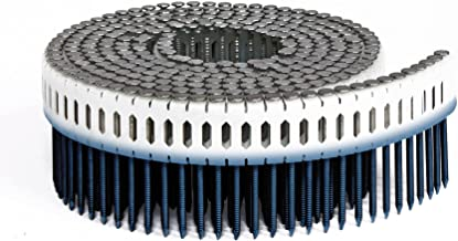 Fasco PC792RGE1M 2-1/4-Inch by 00.092-Inch-Inch 0-Degree Ring Shank Electro Galvenized Coil Nails for Duo Fast Nailers, 1000 Per Box