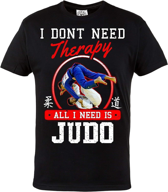 Rule Out Camiseta Prenda de Lucha All i Need Is ' Judo. Entrenamiento. Gimnasio Ropa Deportiva. MMA. Marcial Artes Informal