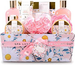 Sponsored Ad – Pamper Sets for Women Gifts-Spa Luxetique Spa Gift Set,12pcs Daisy Bath Gift Set with Essential Oil,Body Bu...