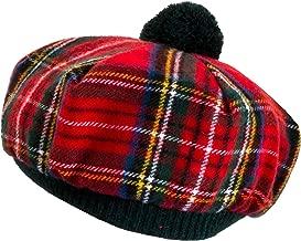 Tammy Hat Tam O' Shanter Stewart Royal Modern Tartan Lambswool