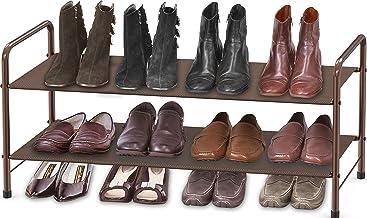 Simple Houseware 2-Tier Shoe Rack Storage Organizer, Bronze