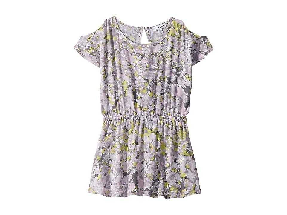Splendid Littles Cold Shoulder Voile Dress (Toddler) (Light Grey) Girl