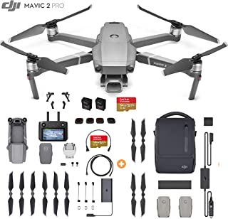 DJI Mavic 2 Pro Drone Quadcopter with Smart Controller and Fly More Kit, Must Have Bundle, 128GB SD Card, 4 Filters, Landing Gear, and More