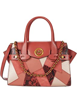 마이클 마이클 코어스 Michael Michael Kors Carmen Small Flap Satchel,Terracotta Multi