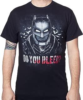 DC Comics Men's Batman V Superman Do You Bleed T-Shirt