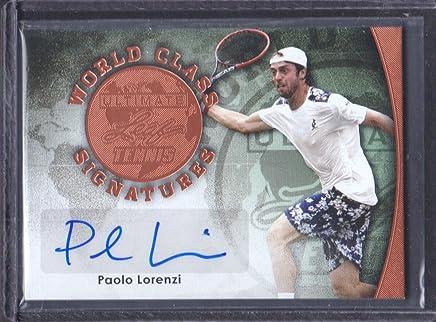 2015 Leaf Ultimate Tennis World Class Auto #SA-PL1 Paolo Lorenzi