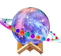 Moon Lamp, LOGROTATE 16 Colors Galaxy Light 3D Printing Starry Moon Night Light with Stand/Remote Control/Touch/USB Rechar...