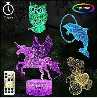 ZOKEA Unicorn Gifts, Unicorn Toys for Girls 7 Colors...