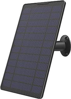 Lemnoi Panel Solar Fuente de Alimentación para A100 Cámara de Seguridad Inalámbrica Exterior con Batería, Impermeable, Montaje Ajustable, Fuente de alimentación Solar con Cable de 4 Metros, Negro