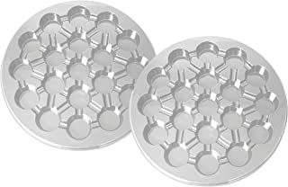 Party Essentials Soft Plastic 16-Inch Round 19-Cavity Cupcake Trays, Crystal Clear, 2-Pack