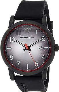 Emporio Armani Men's Three-Hand Date Gunmetal-Tone Stainless Steel Watch AR11176