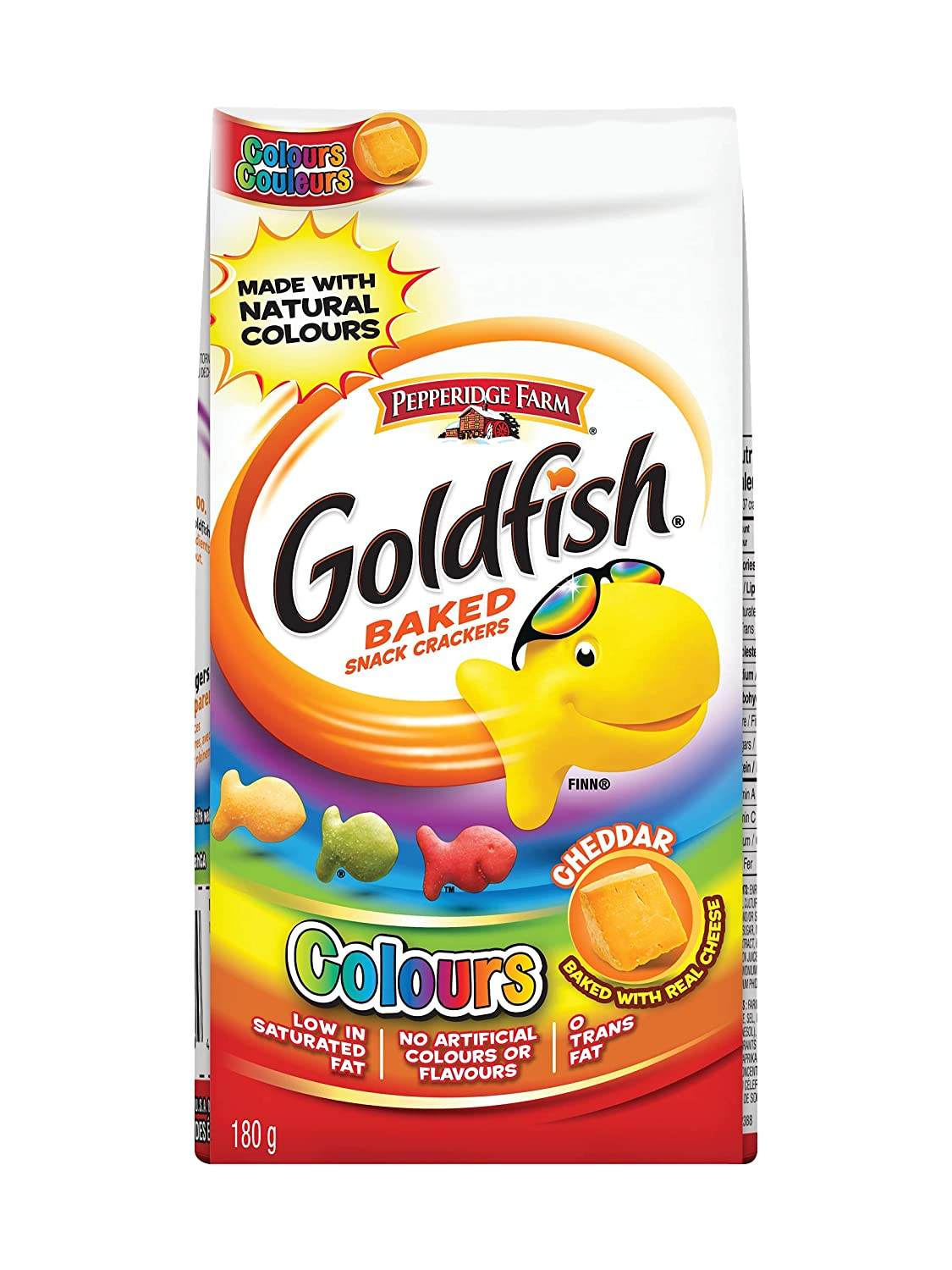 Pepperidge Farm Goldfish Crackers Colours 6.3 NEW Complete Free Shipping Imported oz 180g