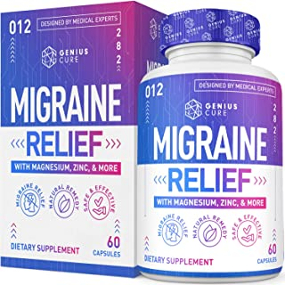 Migraine Headache Relief Supplement – Dr. Recommended Supplement to Help Prevent Pain, Nausea, Sensitivity & Auras from Te...