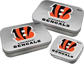 Worthy Promotional NFL Cincinnati Bengals Decorative Mint Tin 3-Pack with Sugar-Free Mini Peppermint Candies