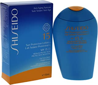 Shiseido Sun Protection Lotion N SPF 15 For Unisex Sunscreen, 150 ml, multicolor