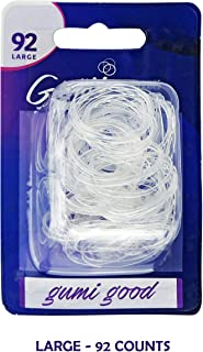 GUMI Reusable Extra Strong Hold Hair Elastics Large-92 Count Clear