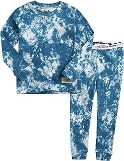 12M-7T Kids Unisex Boys & Girls 100% Cotton Sleepwear Pajamas 2pcs Set Prisim/Cloud