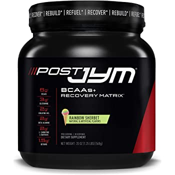 Post JYM Active Matrix - Post-Workout with BCAA's, Glutamine, Creatine HCL, Beta-Alanine, and More | JYM Supplement Science | Rainbow Sherbert Flavor, 30 Servings, 20 oz
