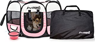 PicassoTiles PET4FUN Portable Pet Puppy Dog Cat Animal Playpen Yard Crates Kennel..