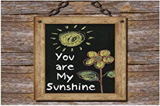 Quotes Decor Love Phrase with Flower and Hand Drawn Sun Figure On Framed Blackboard Wooden Wall Es Multi Mats Non Slip Rub...