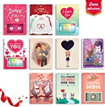 Love Cards 4D Flash Cards Augmented Reality Greeting Card Bundle - Love 4d Pop Cards - Unique Designs no 3d Love Cards I Love You Cards Sympathy Cards Romantic True Love 10-Count