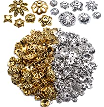 Tibetan Style Flower Bead Caps Alloy Spacer Accessories for Jewelry Making NBEADS 900 Pcs 6 Colors Flower Beads End Caps