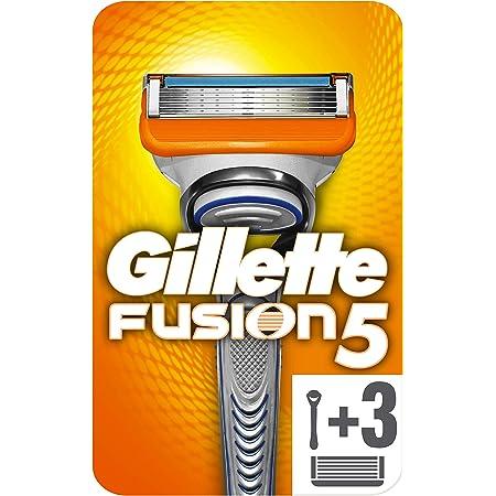 Gillette Fusion 5 Rasoio Uomo + 3 Lamette di Ricambio con 5 Lame Antiattrito per una Rasatura Impercettibile