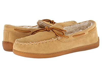 Minnetonka Pile Lined Hardsole (Tan Suede) Men