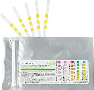 SimplexHealth domowy zestaw do testowania wody 5 w jednym (5 pasków) – woda pitna, stawy, akwarium do azotanów i azottów, ...