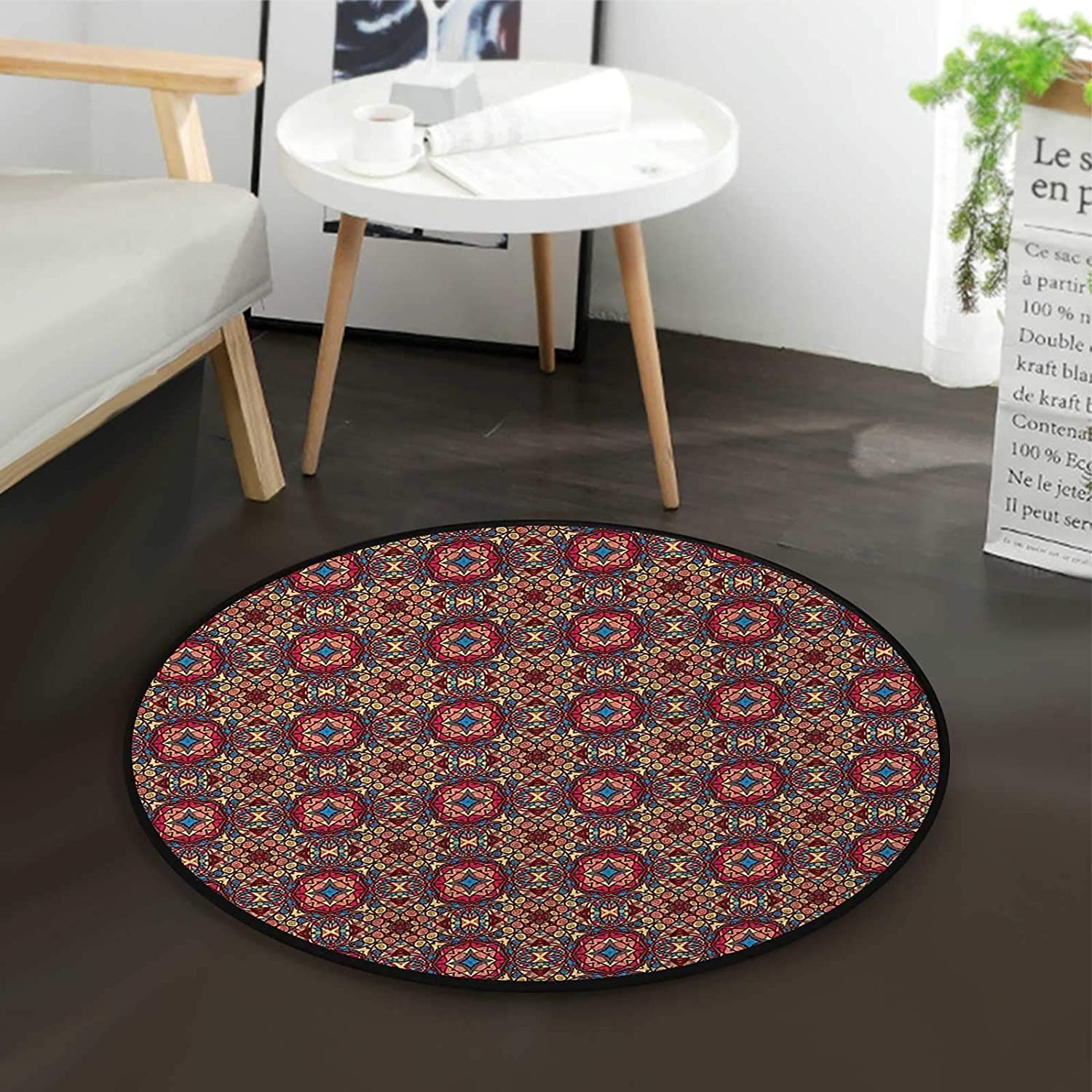 Colorful Image Coffee Table Rug Max Superlatite 89% OFF Round De Computer for Floor Mats