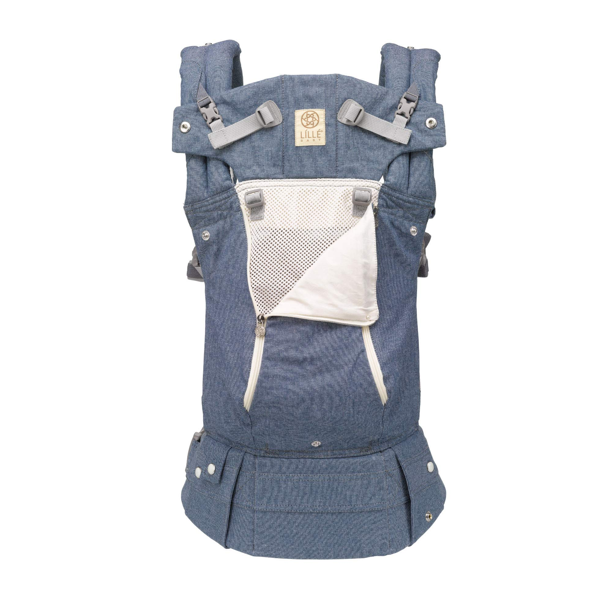 L%C3%8DLL%C3%89baby Complete SIX Position Ergonomic Chambray