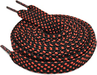 DELELE 2 Pair Wide 8mm Double layer Flat Hollow Shoe Laces Strings Rope Polka Dots Colorful Twill Shoelaces Shoestrings