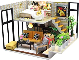 Flever Dollhouse Miniature DIY Music House Kit Creative Room with Furniture for Romantic Valentine's Gift (Cynthia's Holiday)