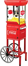 Nostalgia CCP399COKE Coca-Cola 2.5-Ounce Popcorn Cart - 48 Inches Tall