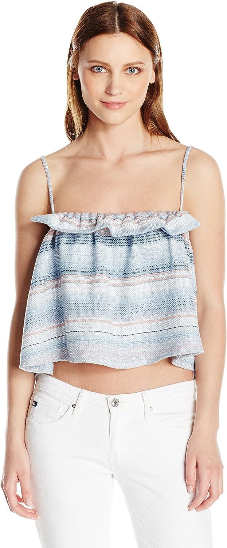 Mara Hoffman Womens Gathered Cami Tank Top Cami Shirt