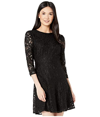 Sam Edelman Lace Fit-and-Flare (Black) Women