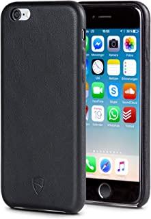Vaultskin SOHO Leather Wallet Case for iPhone 6 & 6S - Ultra Slim Bumper No Pockets Black PHSOHIP6B