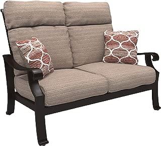 Ashley Furniture Signature Design - Chestnut Ridge Outdoor Loveseat with Cushion - Brown
