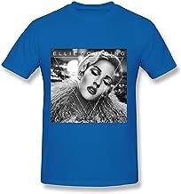 Ellie Goulding Shirt Me Hate Tour 2019 Short Sleeve for Men Hoodies Sports B&W Photo Black Baby Doll T-Shirt (104)