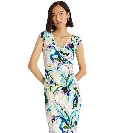 LAUREN Ralph Lauren Paisley Pleated Jersey Dress