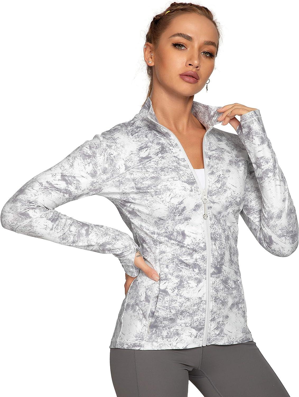 QUEENIEKE Womens Sports Jacket Turtleneck Slim Fit Full-Zip Running Top 80927