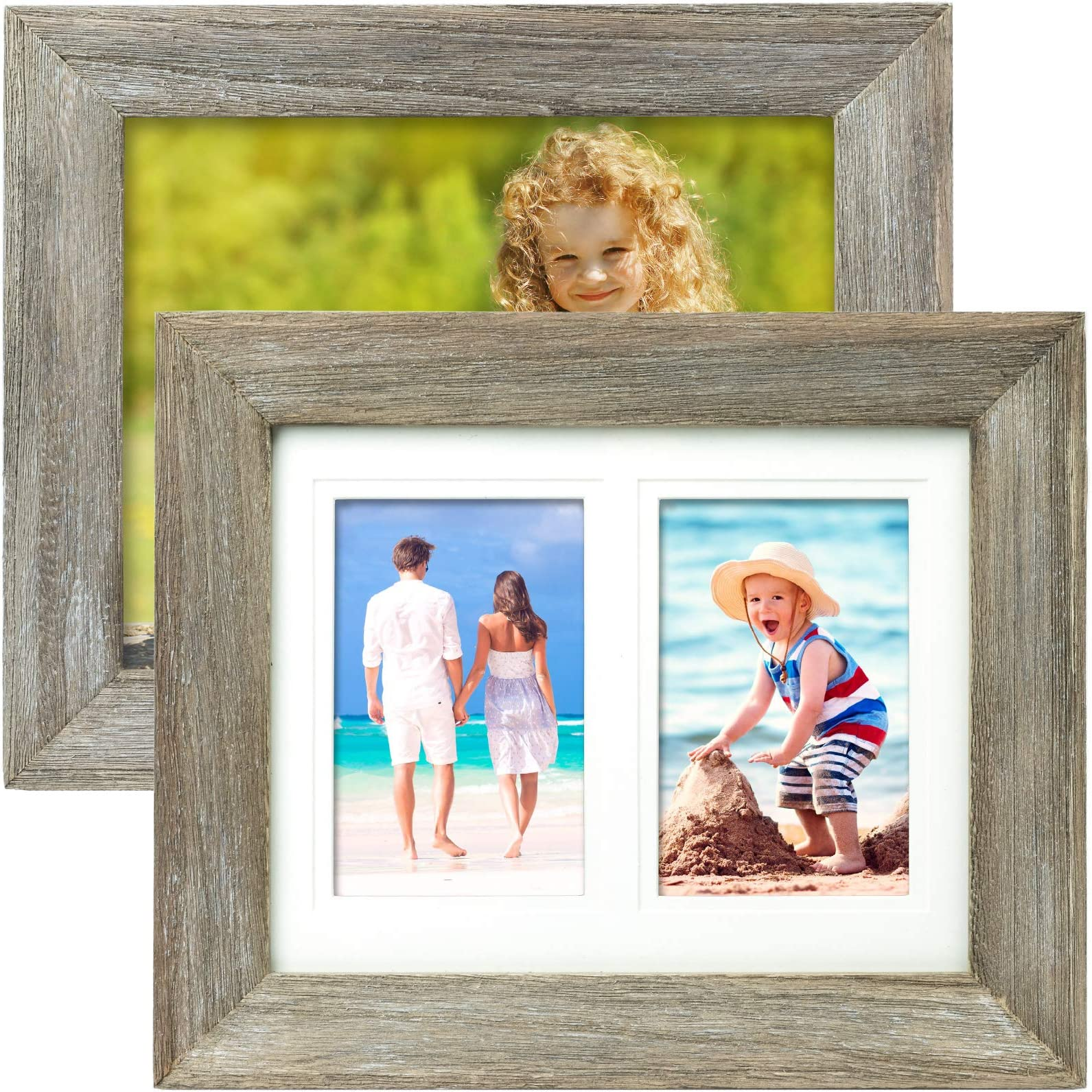 Made to Display 3 4x6 Photos 4x6 Aspen White Collage Distressed Wood Frames Americanflat 10 Pack
