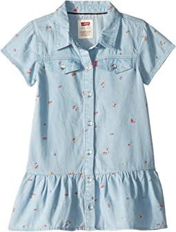 Short Sleeve Drop Waist Dress (Toddler)